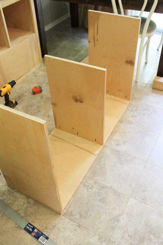DIY Office Storage Cabinet Bookcase
