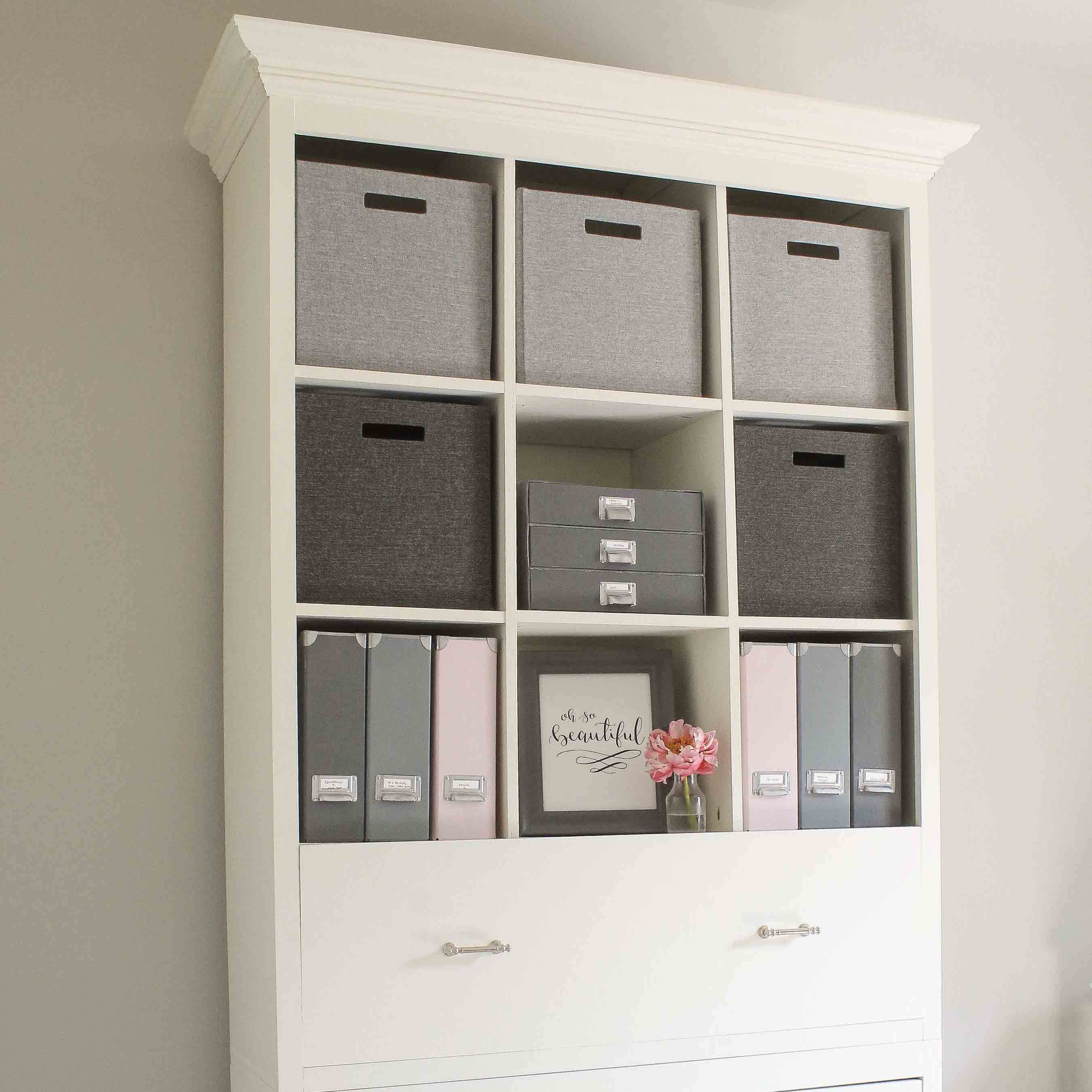 Diy office storage cabinet bookcase angela marie made for Diy home office cabinets