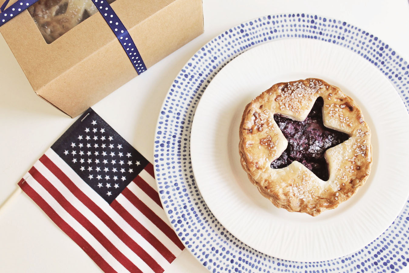 4th of july mini pie favors