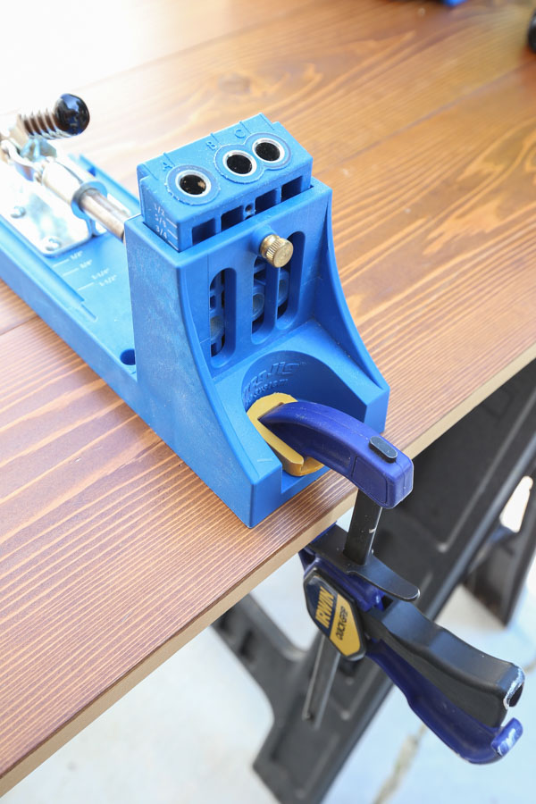 Kreg Jig clamped to work surface