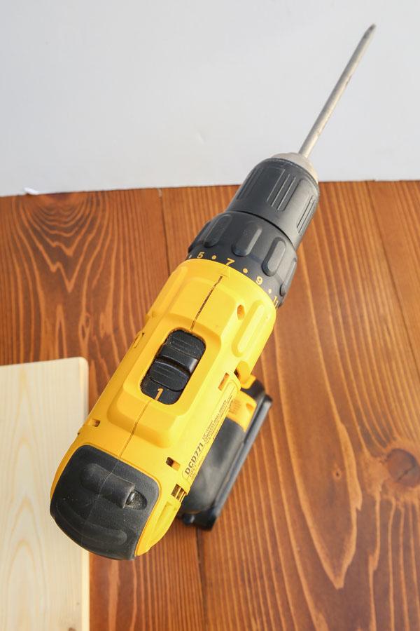 Power drill set to #1 regular power