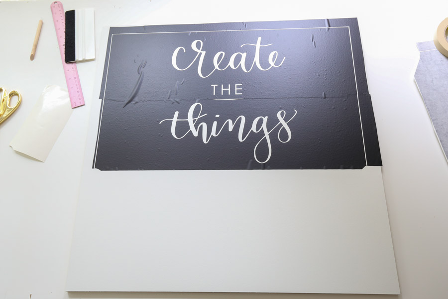 apply vinyl stencil to sign for how to make wooden signs with stencils