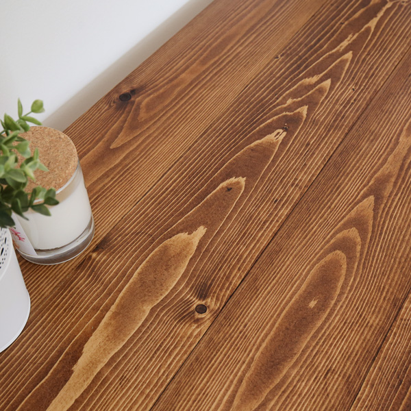 how to stain wood and close up stained wood photo