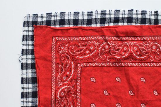 No Sew Flannel Dog Bandana DIY