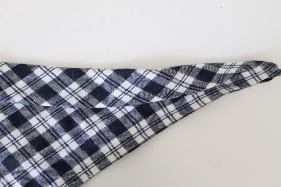 No Sew Flannel Dog Bandana DIY