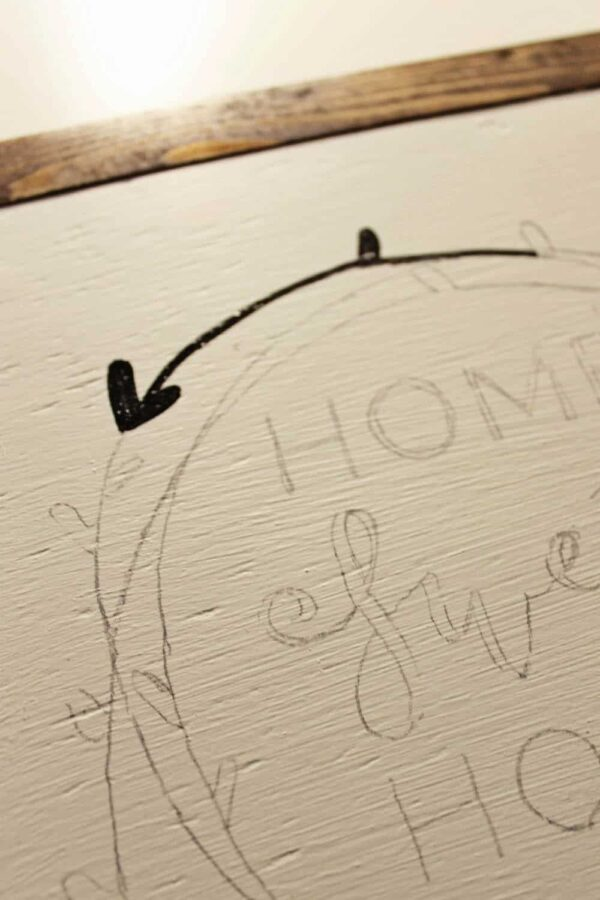 Complete the transfer letters to wood with a marker or paint marker