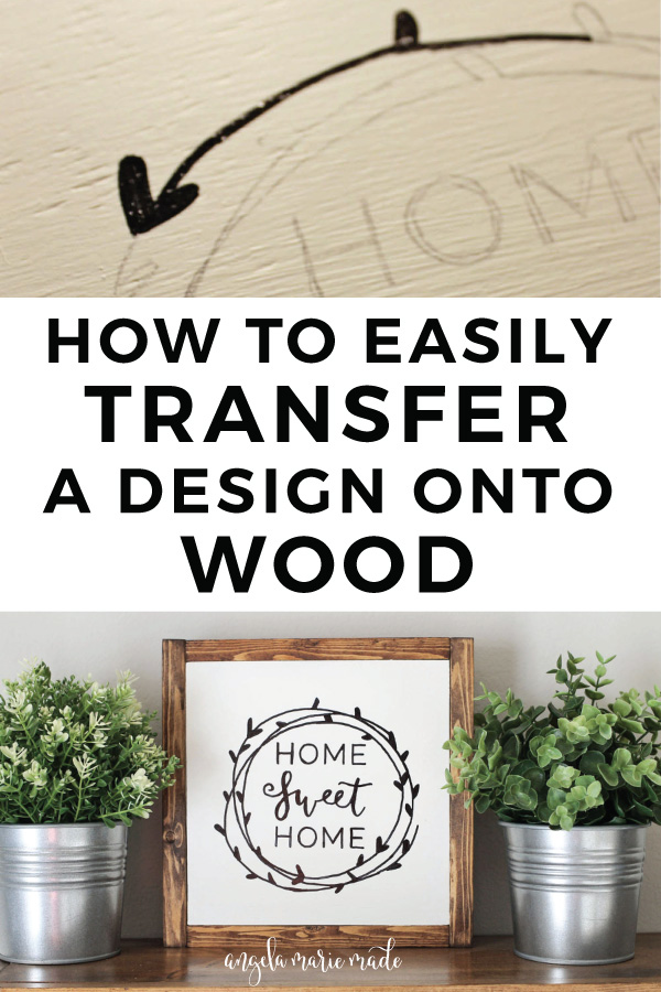 How to transfer letters onto wood with a pencil