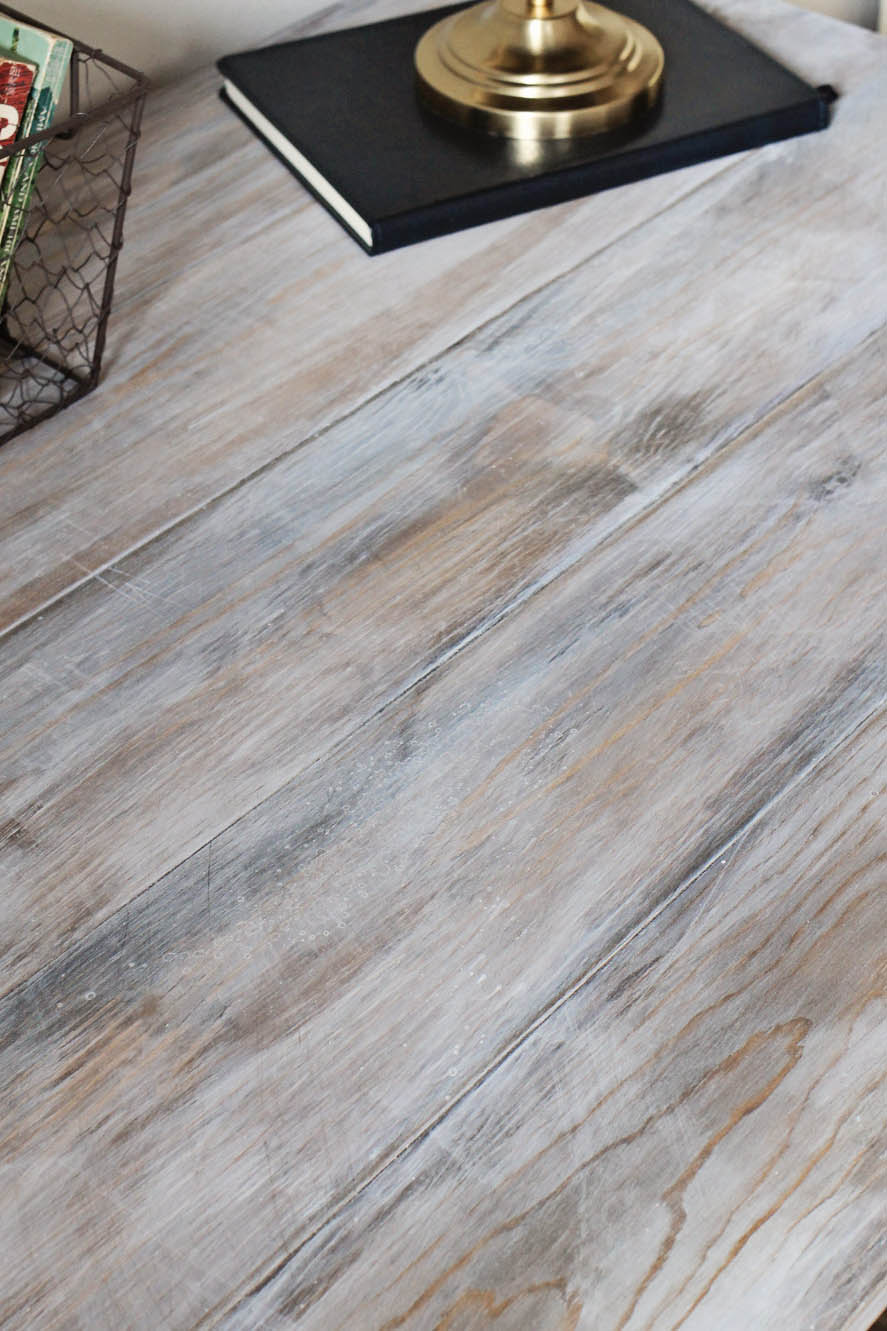 How to create a weathered wood gray finish