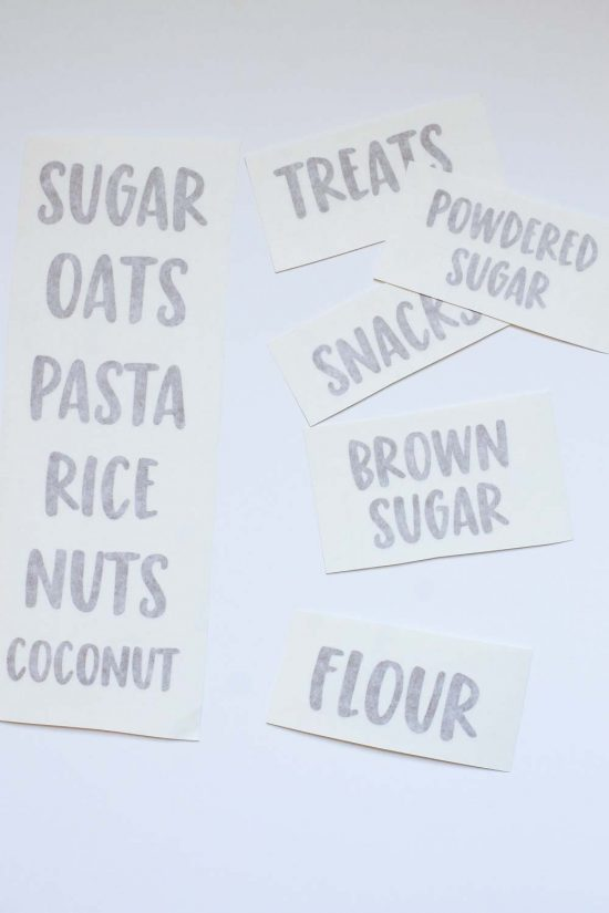 How to make vinyl labels for pantry jars