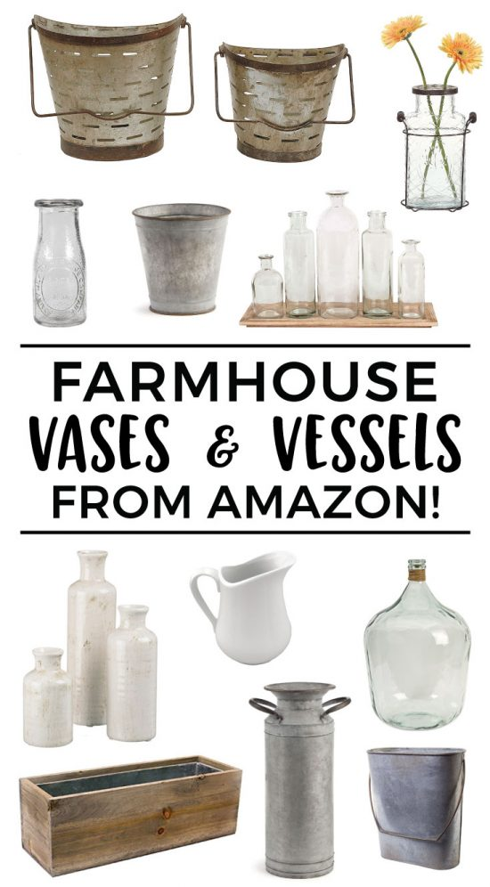 Farmhouse Vases and Vessels from Amazon