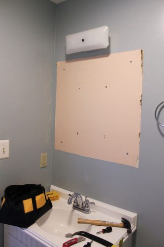 One Room Challenge - Master Bathroom - Before photos