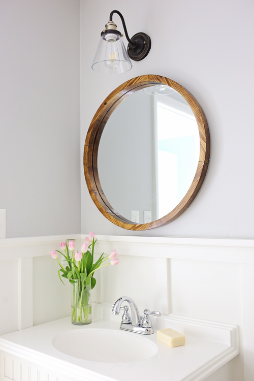 Round Wood Mirror DIY