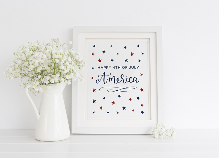 Fourth of July Free Printable