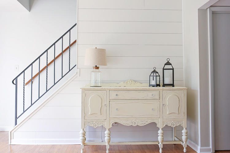 DIY Shiplap Accent Walls