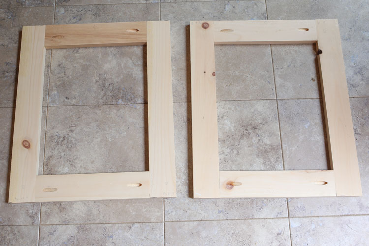 Building door frames for TV stand