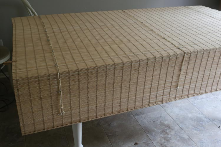 Bamboo Blinds- How to Trim to Size and Add a Privacy Liner