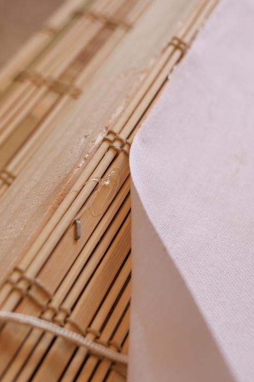 How to add a privacy liner to bamboo blinds