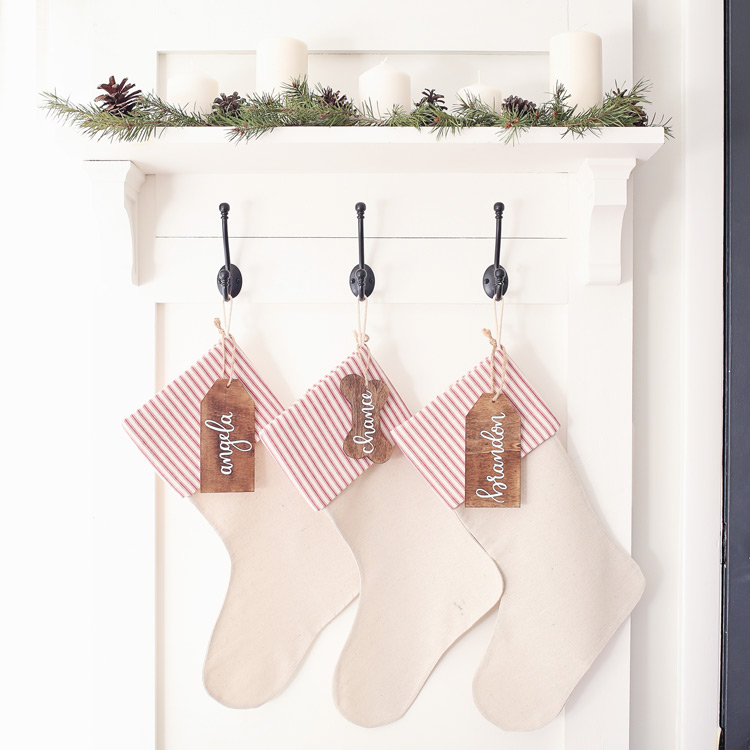 No Sew DIY Christmas Stockings