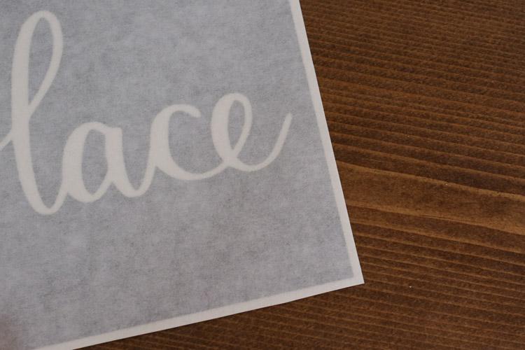 Trim edge around vinyl stencil