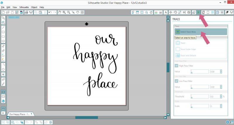 Open JPEG design file in Silhouette Studio