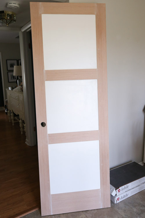 DIY Panel Door before black paint