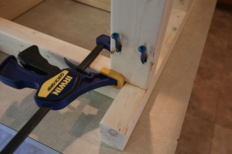 Add bottom shelf rack to bathroom vanity