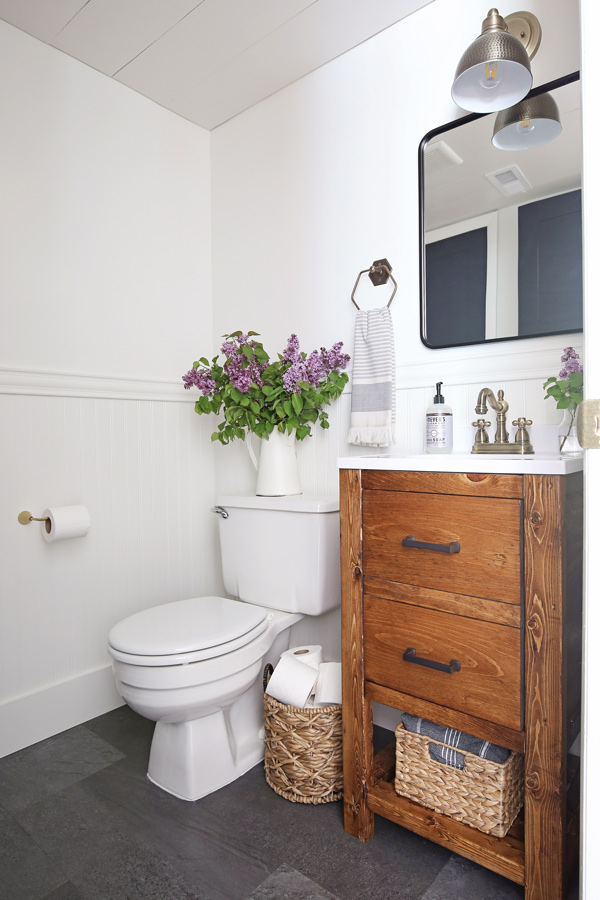Half Bathroom Makeover on a budget