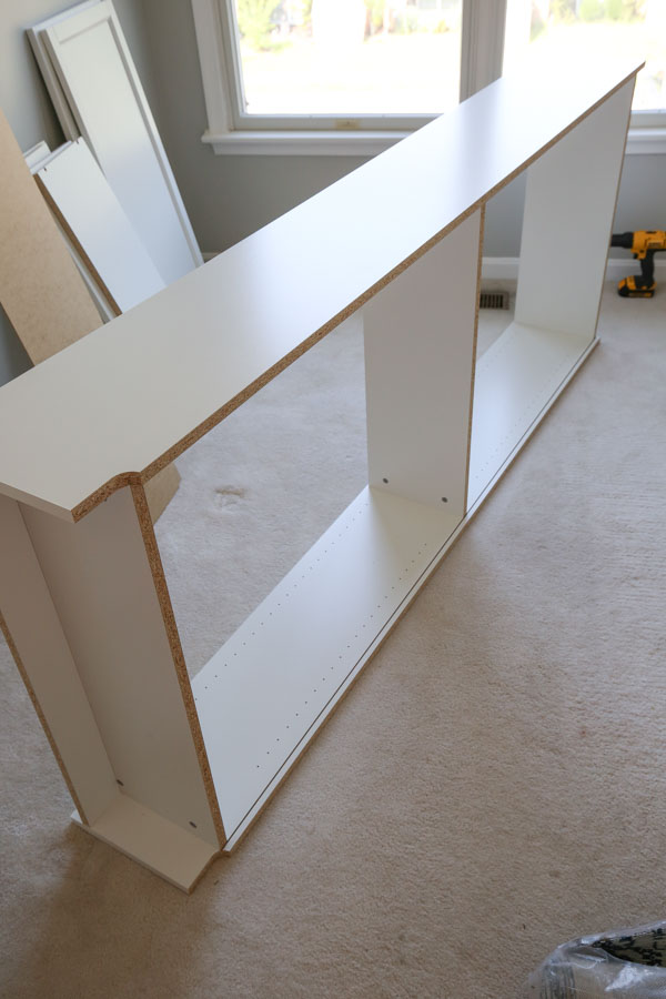 IKEA Billy Bookcase assembled with no backing