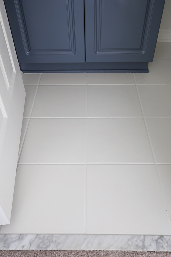 How To Paint Tile Floor In A Bathroom