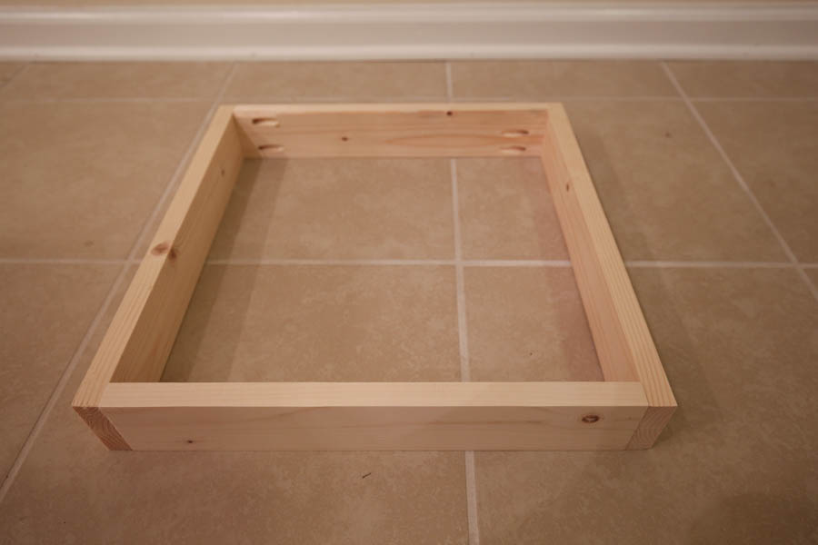 Building the wood drawers of the DIY makeup vanity with pocket holes