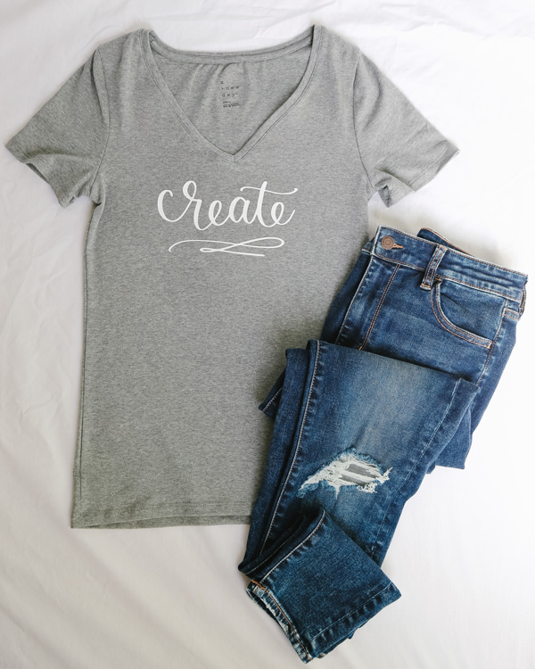 How to use heat transfer vinyl on a grey t shirt