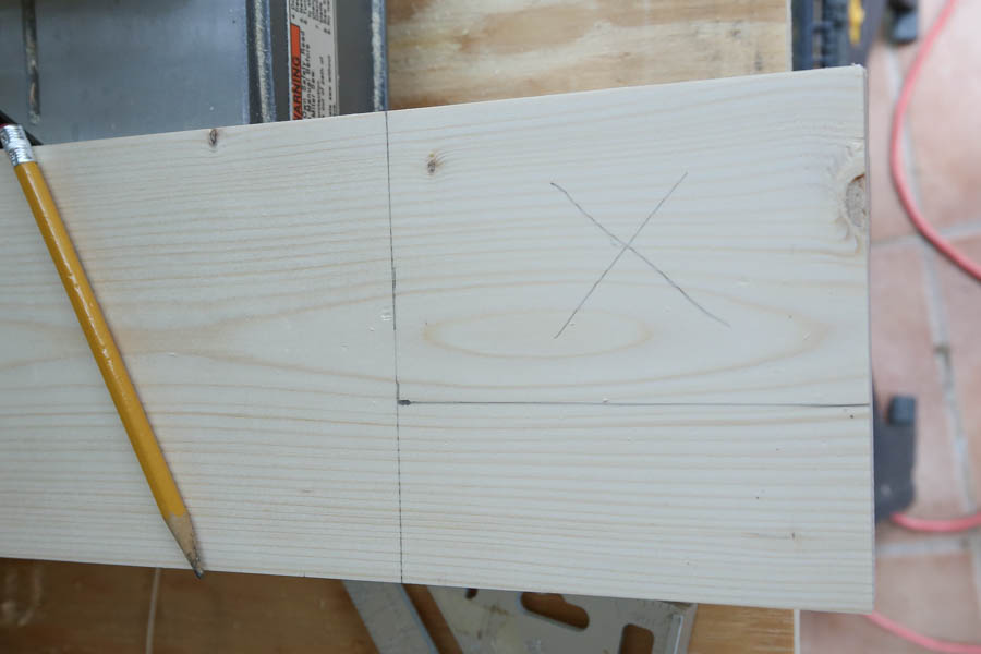 new window sill board marked for cutting