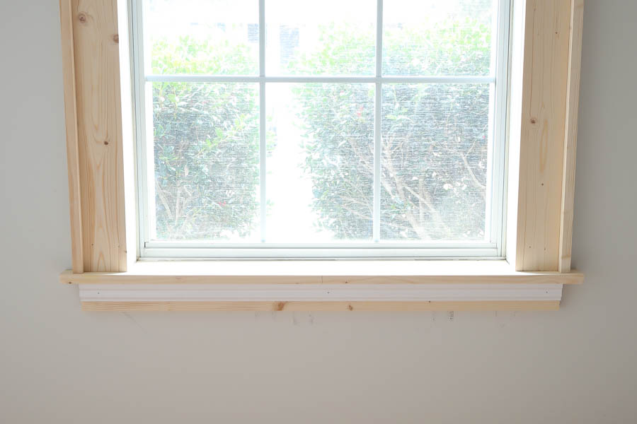 Base trim added below window