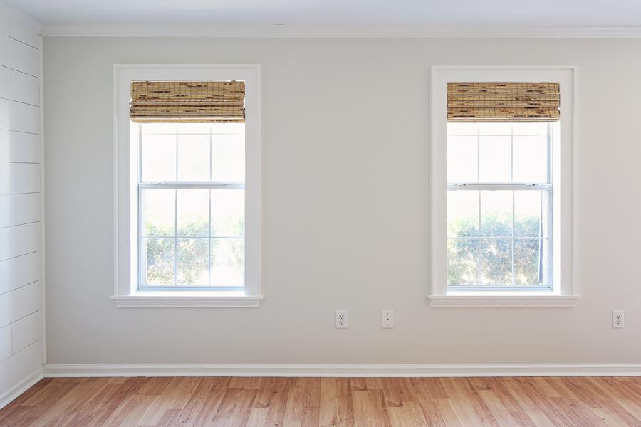 Double windows transformed with DIY window trim