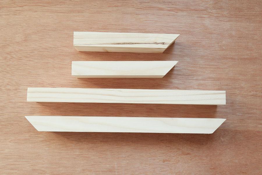 planteur boox pièces de bois coupées à la taille