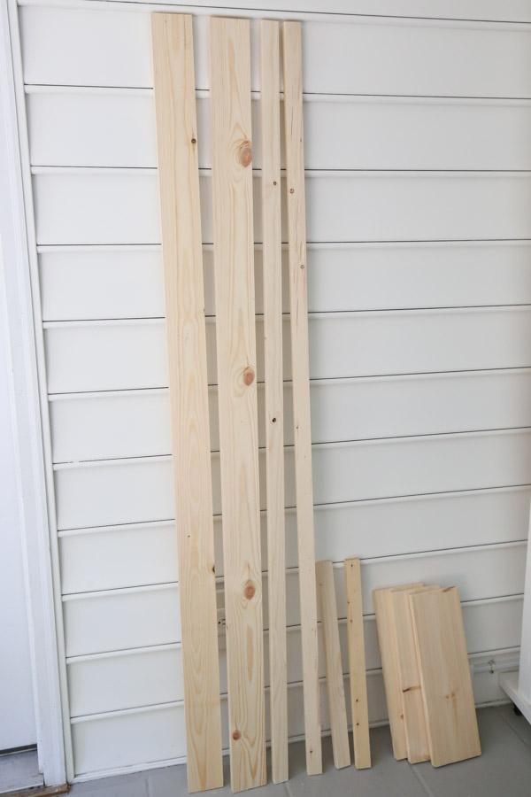 lumber for DIY barn door