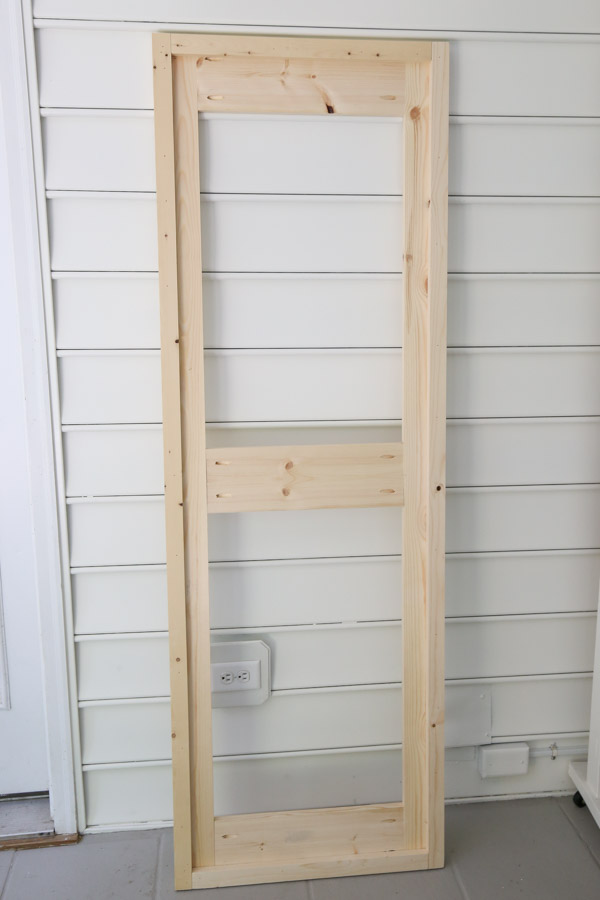 barn door frame constructed with 1x6s and 1x4s