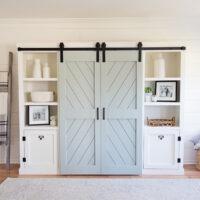 How to build double DIY barn doors