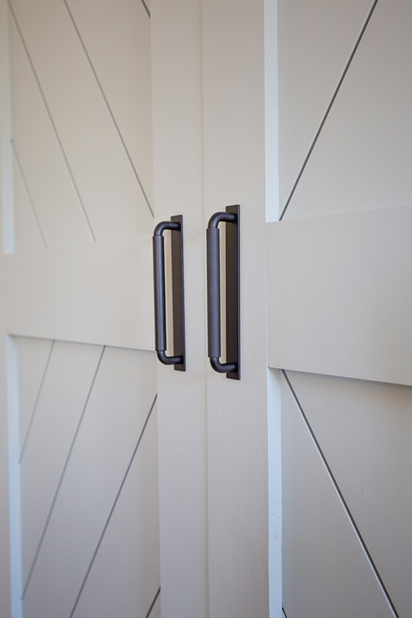 modern black barn door hardware handles, the Patton Drawer Pull from Rejuvenation