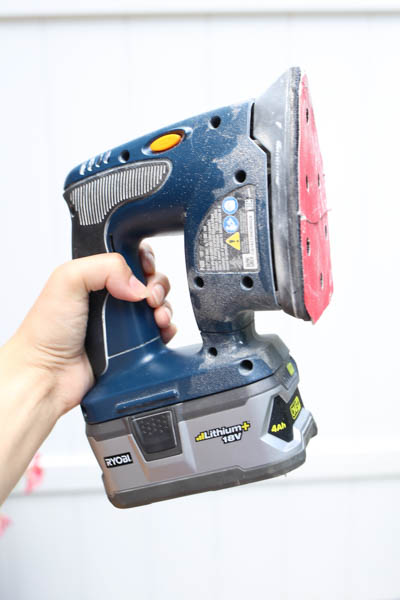 Small corner sander used for sanding in tight corners