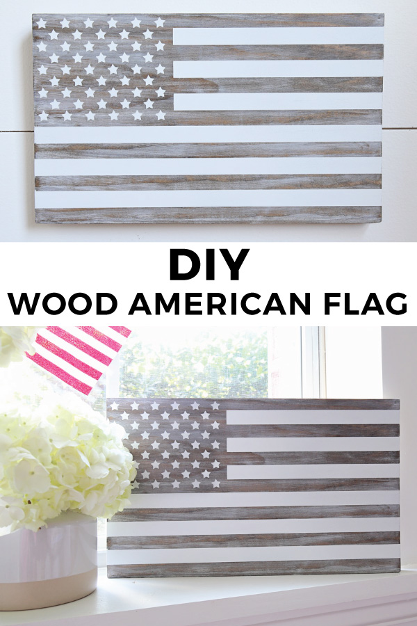 DIY Wooden American Flag Sign