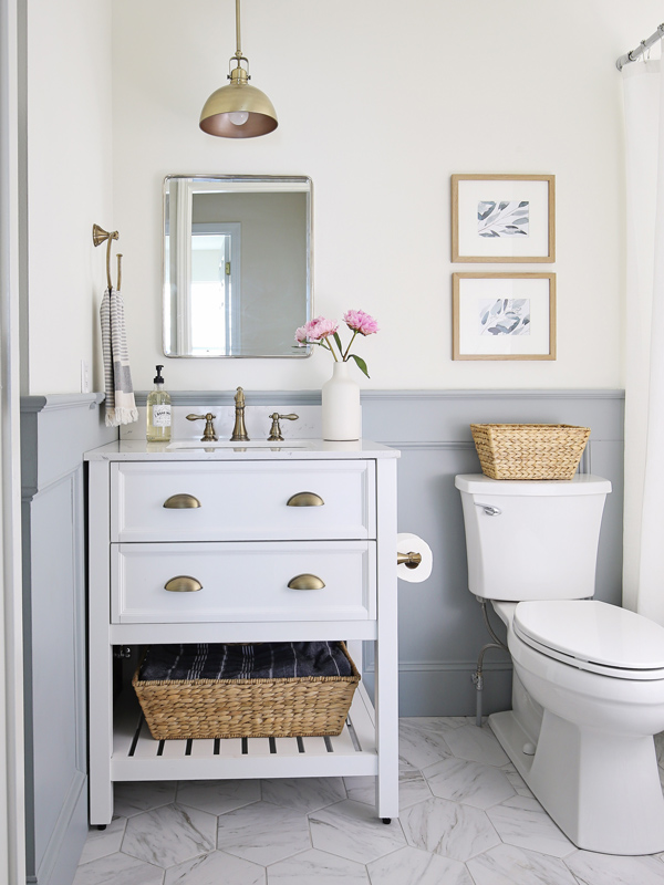 Small Bathroom Makeover Reveal Angela Marie Made
