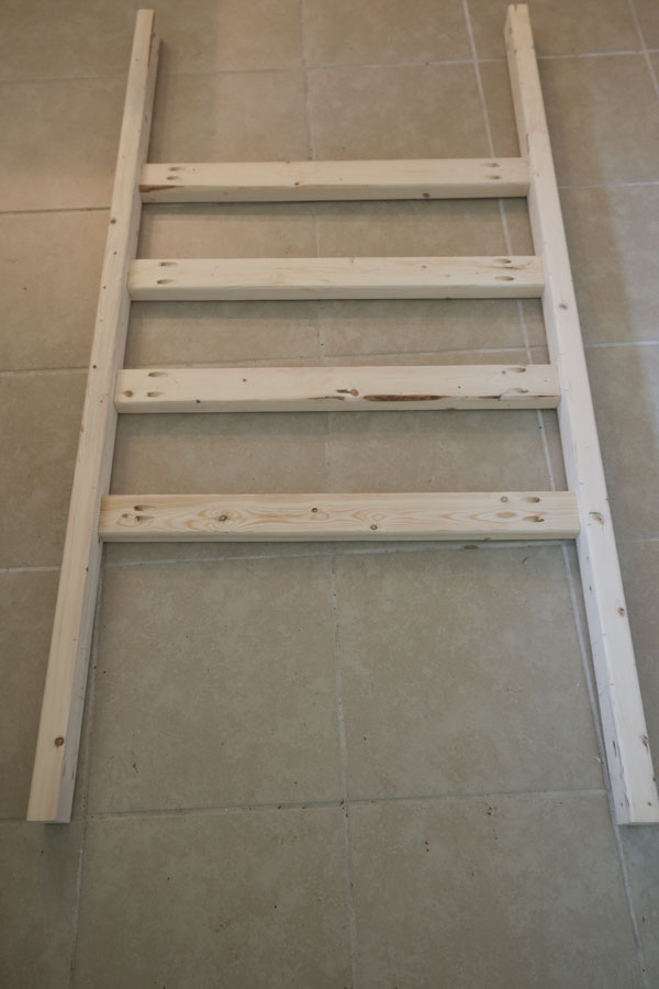 attach bottom frame of couch together with kreg screws