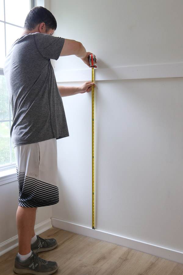 measuring height for battens for board and batten