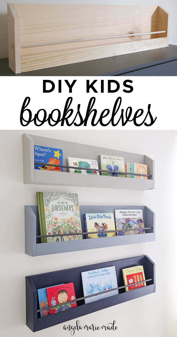DIY kids bookshelves pin