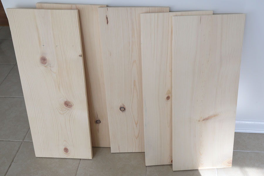 wood pantry shelves cut to size