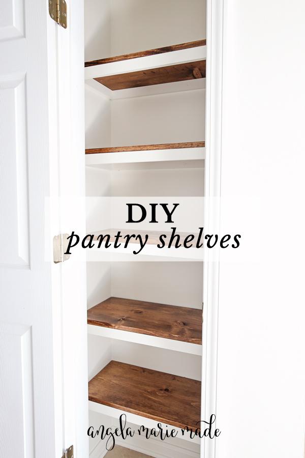 DIY Pantry Shelves Pin