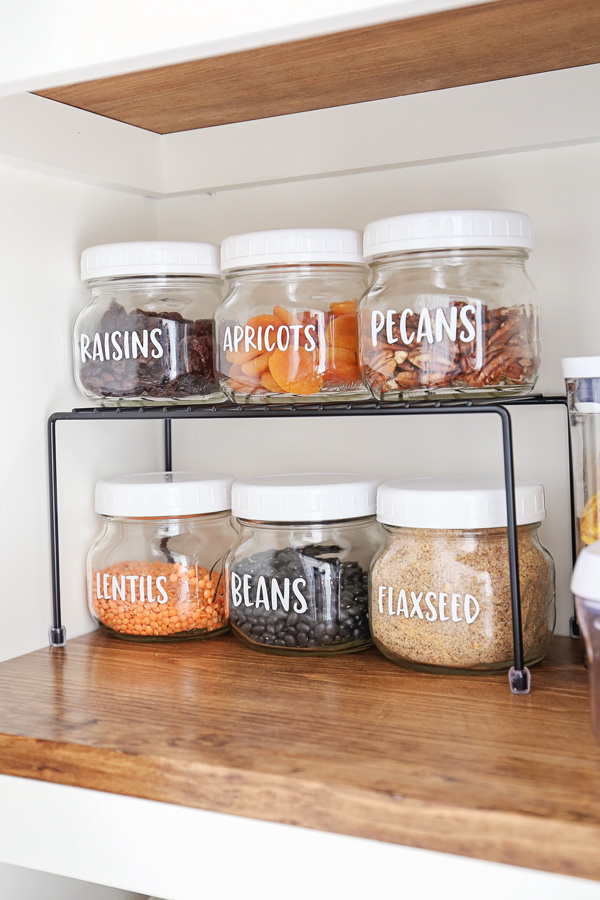 diy pantry labels on mason jars