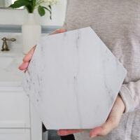 porcelain marble tile up close