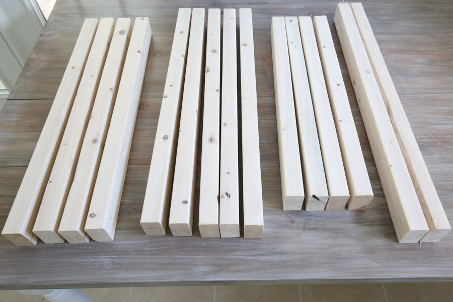 Make cuts for outdoor chair frame